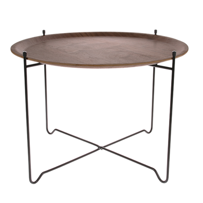 HKliving Side table L - Walnut