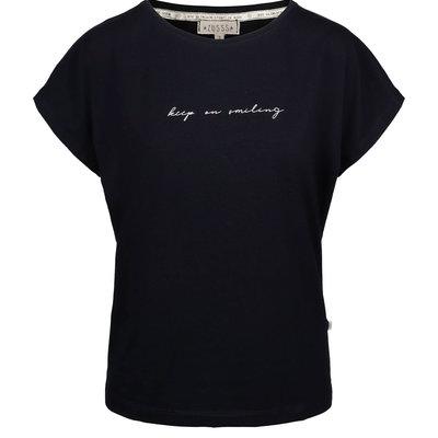 Zusss Toffe basic T-shirt zwart