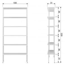 VTWonen VTWONEN Rack Variant 2 wit/hout/staal