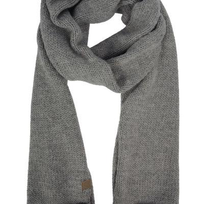 Zusss gebreide sjaal grijs-groen