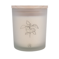 geurkaars in glas plant wit