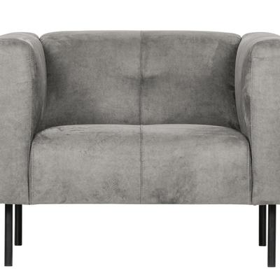 vt wonen VTWONEN SKIN fauteuil grijs