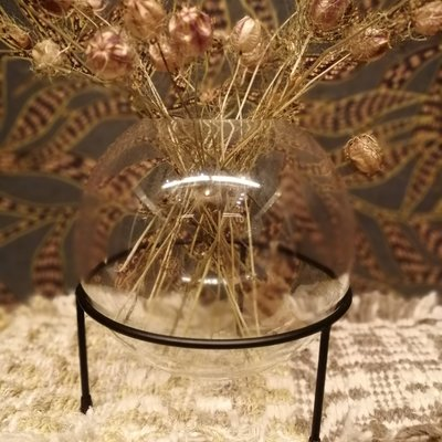 Housevitamin Vase with Black glass holder M