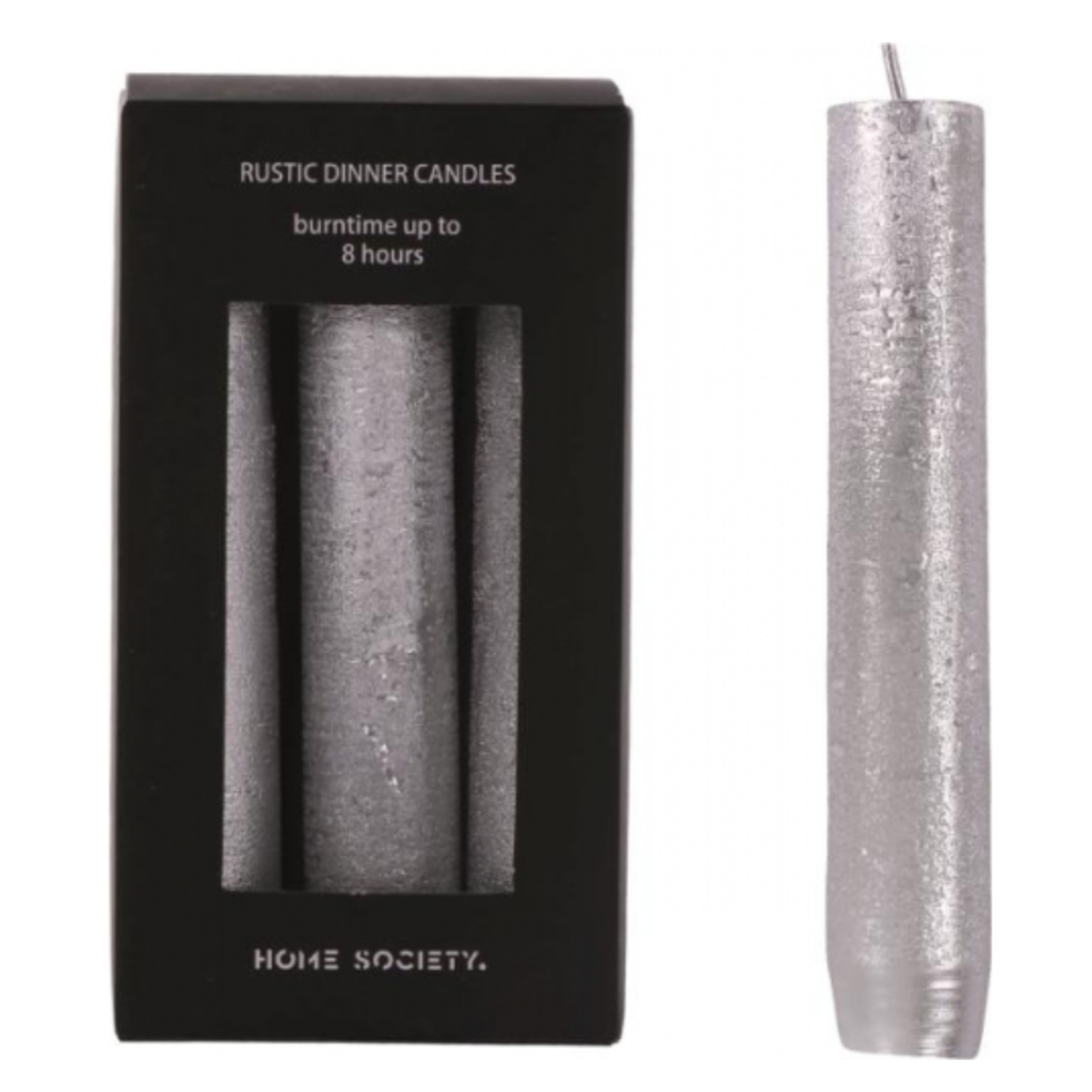 HOME SOCIETY Dinner Candle S Silver