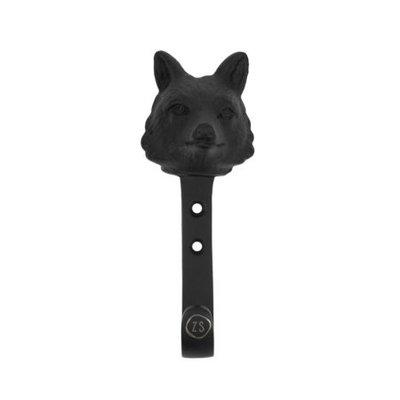 kapstokhaak vos metaal zwart