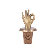 kurkenstopper hand goud