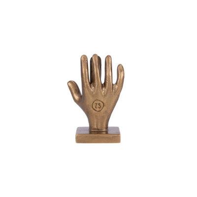 kaartenstandaard hand metaal brons