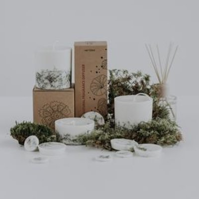 Munio Candela Moss giftbox kaars en waxschijfjes