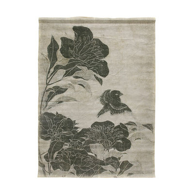 HKliving Linen wall chart floral