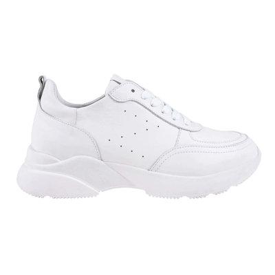 Zusss gave sneaker wit maat