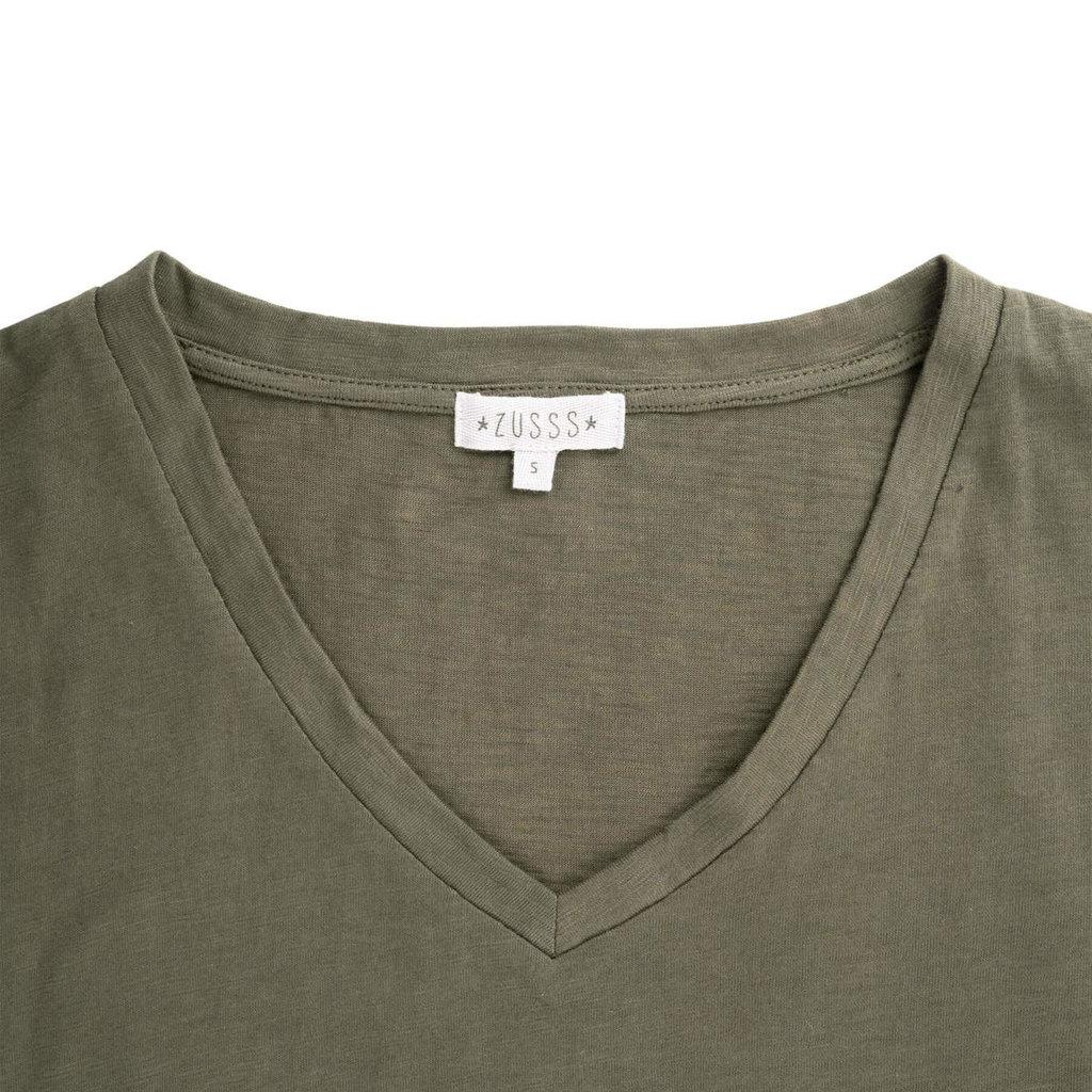 Zusss basic t-shirtjurk groen