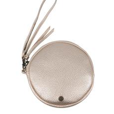 Zusss kekke ronde clutch goud metallic
