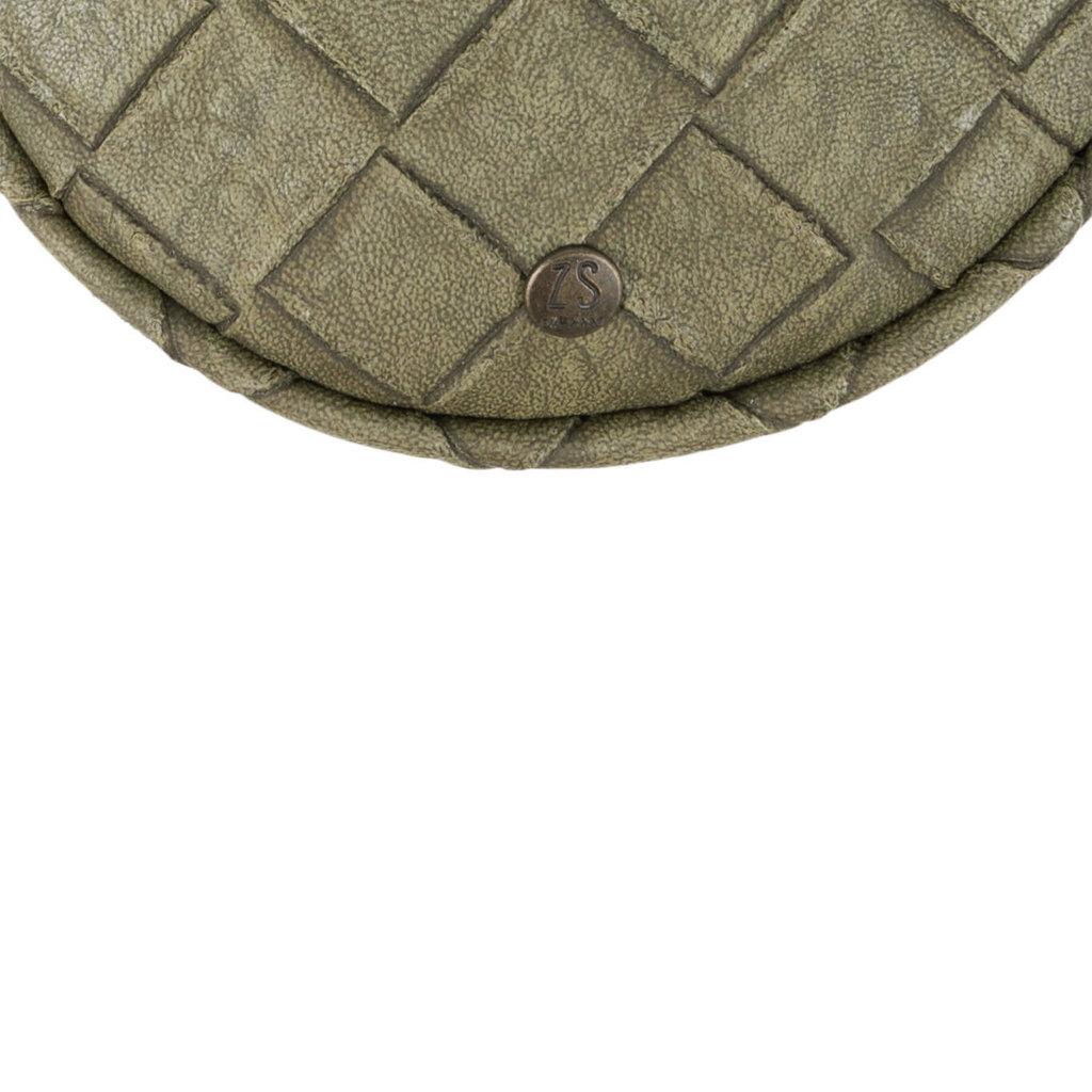 Zusss kekke ronde clutch groen gevlochten