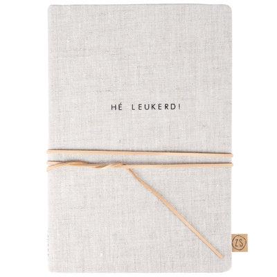 Zusss notitieboek met veter he leukerd