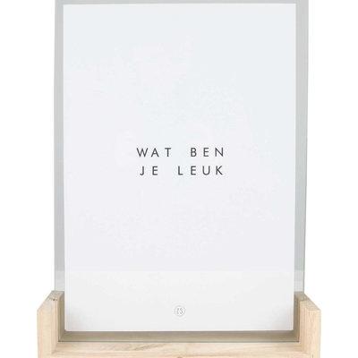 Zusss houten fotolijst met poster a4 leuk