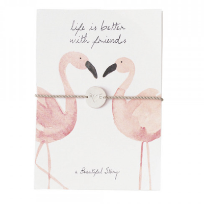 a Beautiful Story JP00033 - Sieraden ansichtkaart flamingos