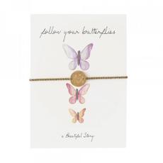 a Beautiful Story JP00039 - Sieraden ansichtkaart vlinders