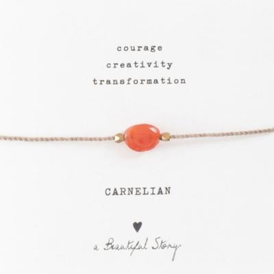 a Beautiful Story BL23474 - Edelsteen kaart Carneool goud armband