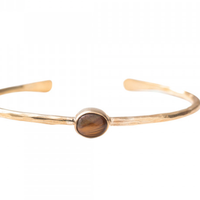 a Beautiful Story AW24429 - Moonlight Tiger Eye Gold armband