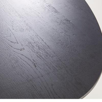 Ovale tafel Zwart 300x120 EIKEN