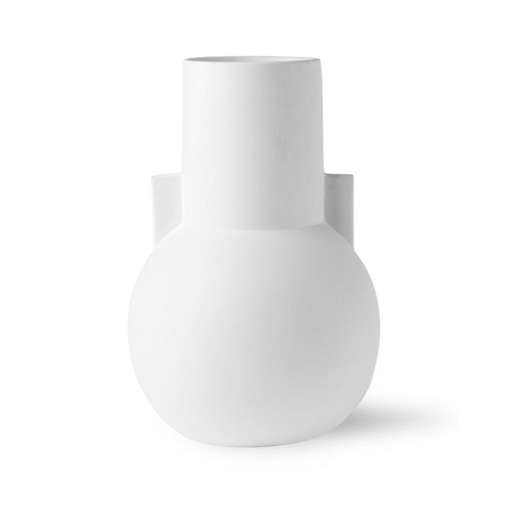 HKliving matt white vase S