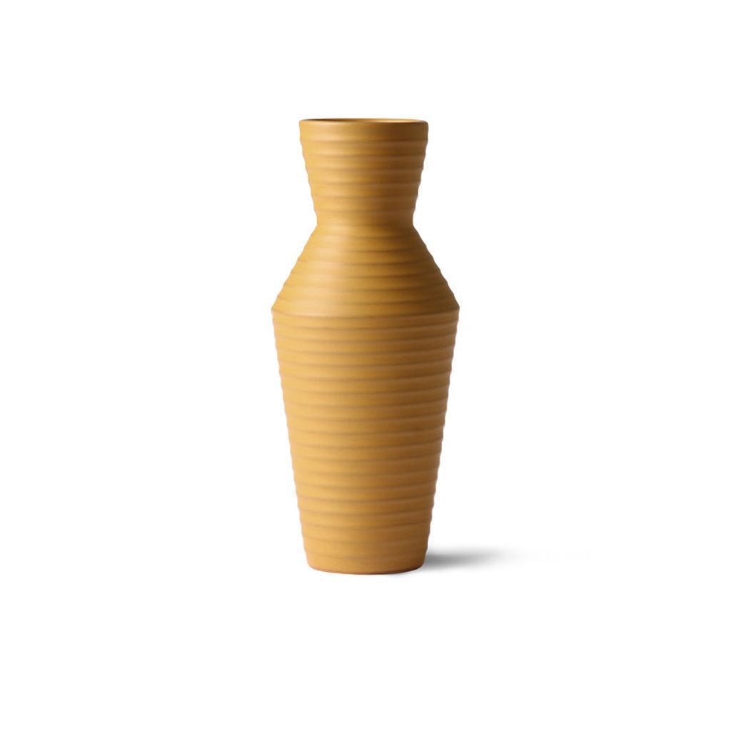 HKliving ceramic flower vase ochre