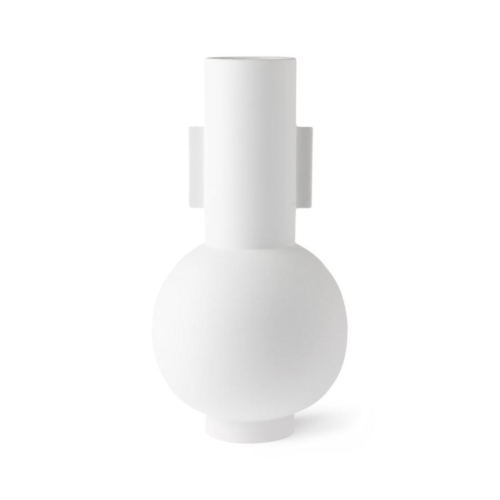 HKliving matt white vase L