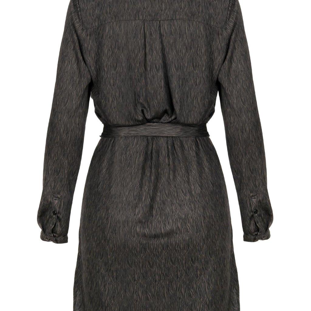 Zusss blouse jurk met print grafiet