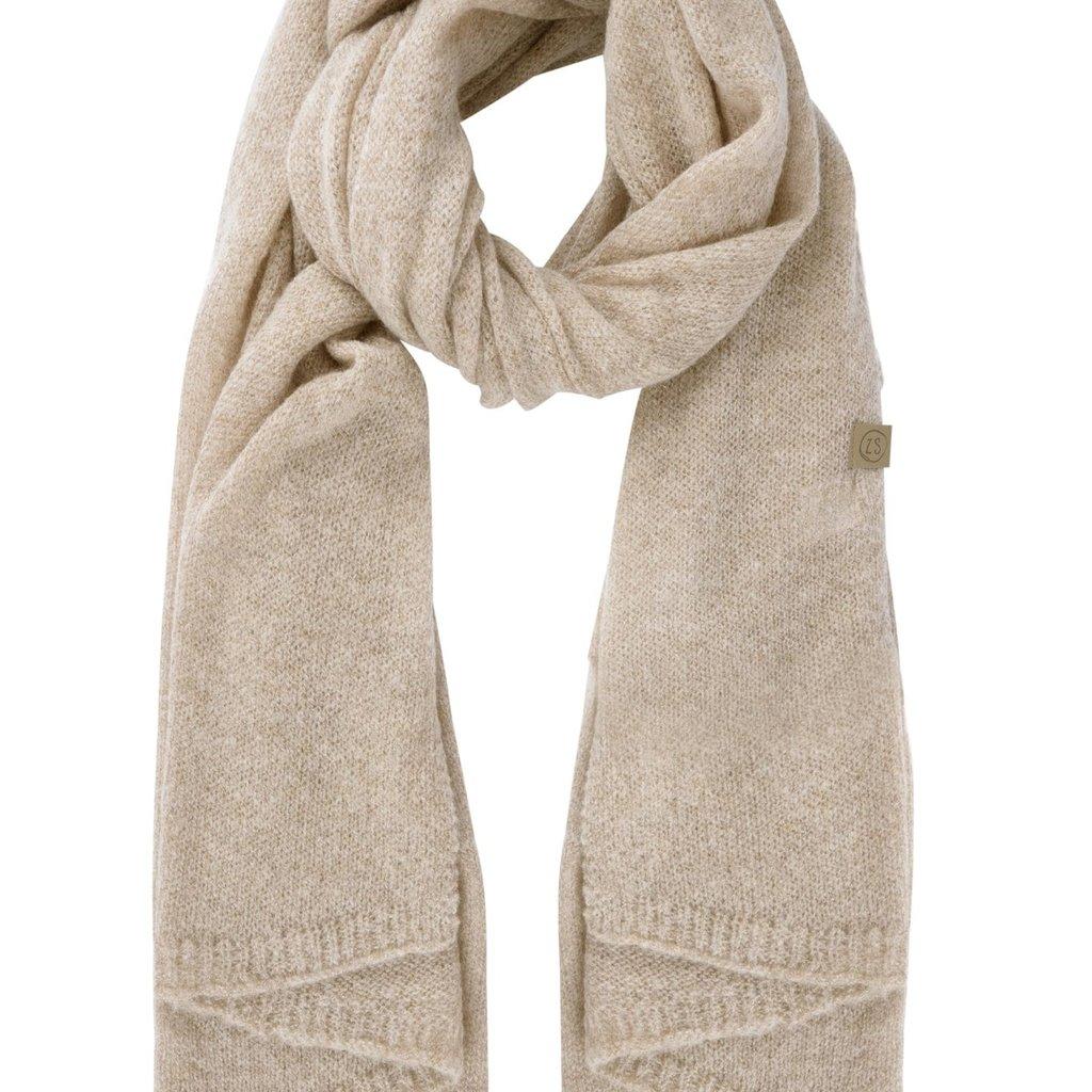 Zusss warme brei sjaal zand