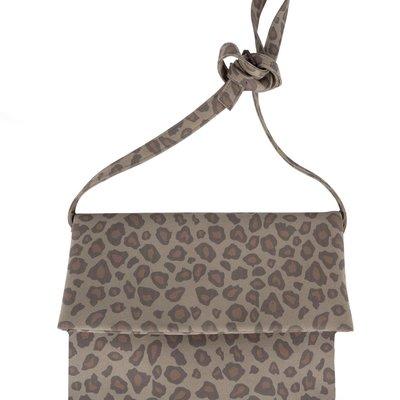 Zusss basic schoudertas M leopard zand