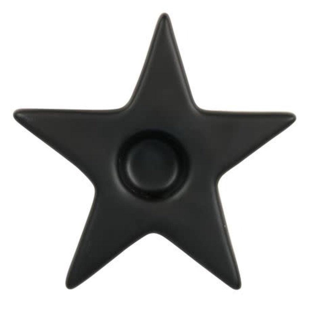 Zusss Zusss kandelaar ster mat zwart