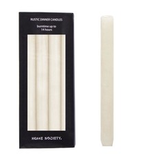 HOME SOCIETY Dinner Candle L white