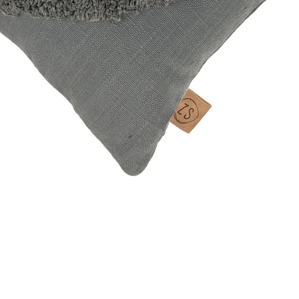Zusss kussen driehoek 45x45cm grafietgrijs