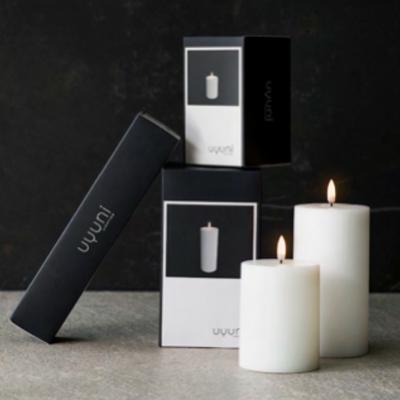 uyuni LED kaars , Nordic White 7,8 x 20,3 cm