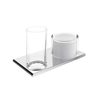 Keuco Dubbele houder glas/Lotiondispenser serie Edition 400 Keuco