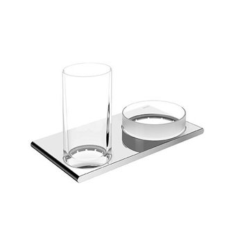 Keuco Doppelhalter Glas- und Schüsselhalter Serie Edition 400 Keuco