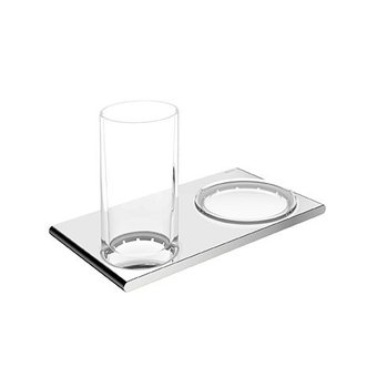 Keuco Double holder glass holder and soap dish series 400 Keuco