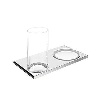 Keuco Dubbele houder glashouder en zeepschaal serie Edition 400 Keuco