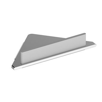 Keuco Corner shower shelf + wiper white series Edition 400 Keuco