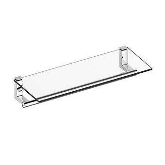 Keuco Towel rack with shelf from glass series Plan Keuco