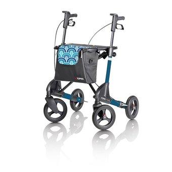 Topro Topro Troja 2G rollator Standaard M Blue waves met gratis rugsteun
