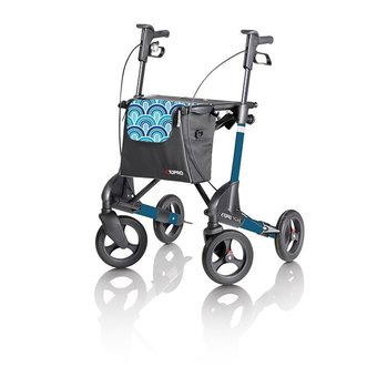 Topro Topro Troja 2G rollator Standard M Blue waves with free back support and tray!