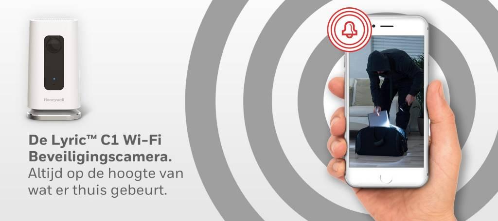 Nieuw de Lyric C1 wifi camera van Honeywell