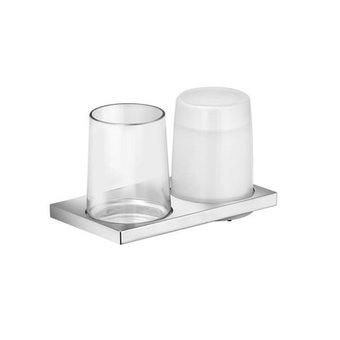 Keuco Double holder glass / lotion dispenser series Edition 11 Keuco (chrome)