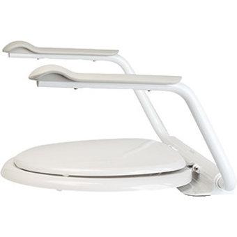 Etac R82 B.V. Anhänger-WC-Sitz und Deckel mit Armlehnen