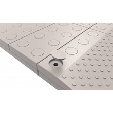 SecuCare Filled fillets set color gray for modular threshold aid SecuCare