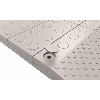 SecuCare Vuldoppen set kleur grijs voor modulaire drempelhulp van SecuCare