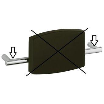 Keuco Wall Mount for the backrest toilet Care Plan (chrome)