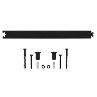 Intersteel Tussenrail 45cm  tbv schuifdeursysteem mat zwart - Intersteel