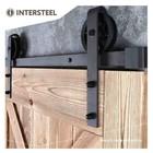 Sliding door system Wheel Mat Black by Intersteel